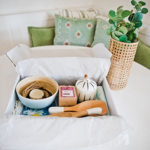 Home Decor Delivery box on table