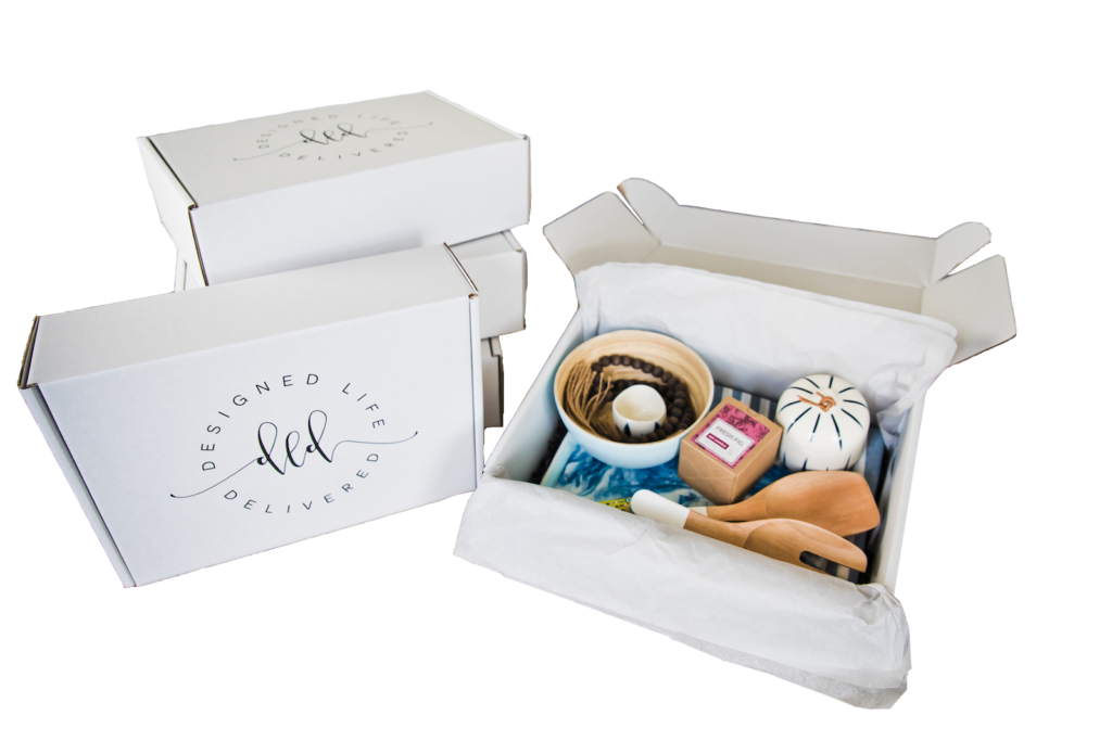 Group of designed life delivered boxes
