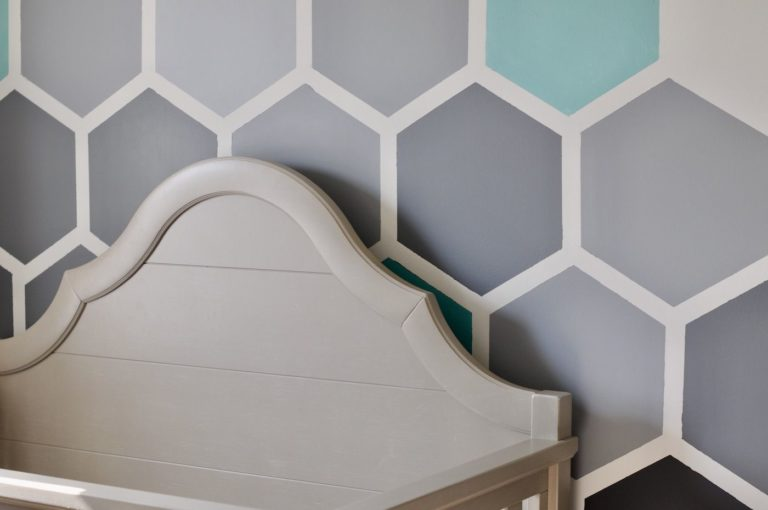 Painting a hexagon wall mural cover photo