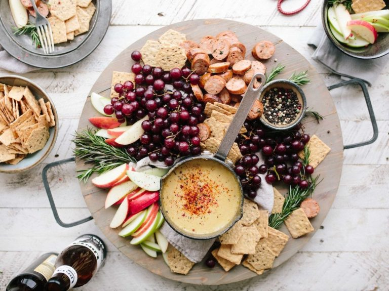 summer party cheese platter