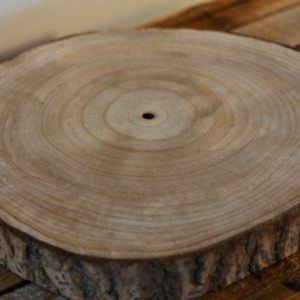 Large decorative wood slice