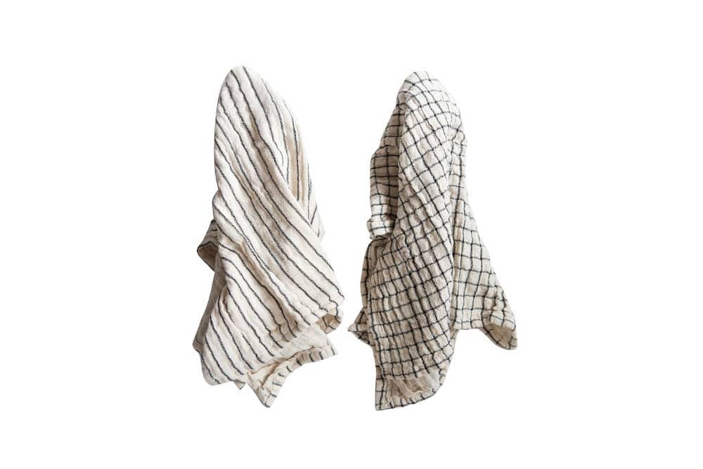 set of two cotton tea towels