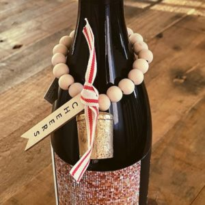 holiday wine charm