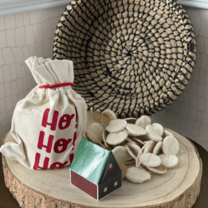 winter holiday bundle with wood slice