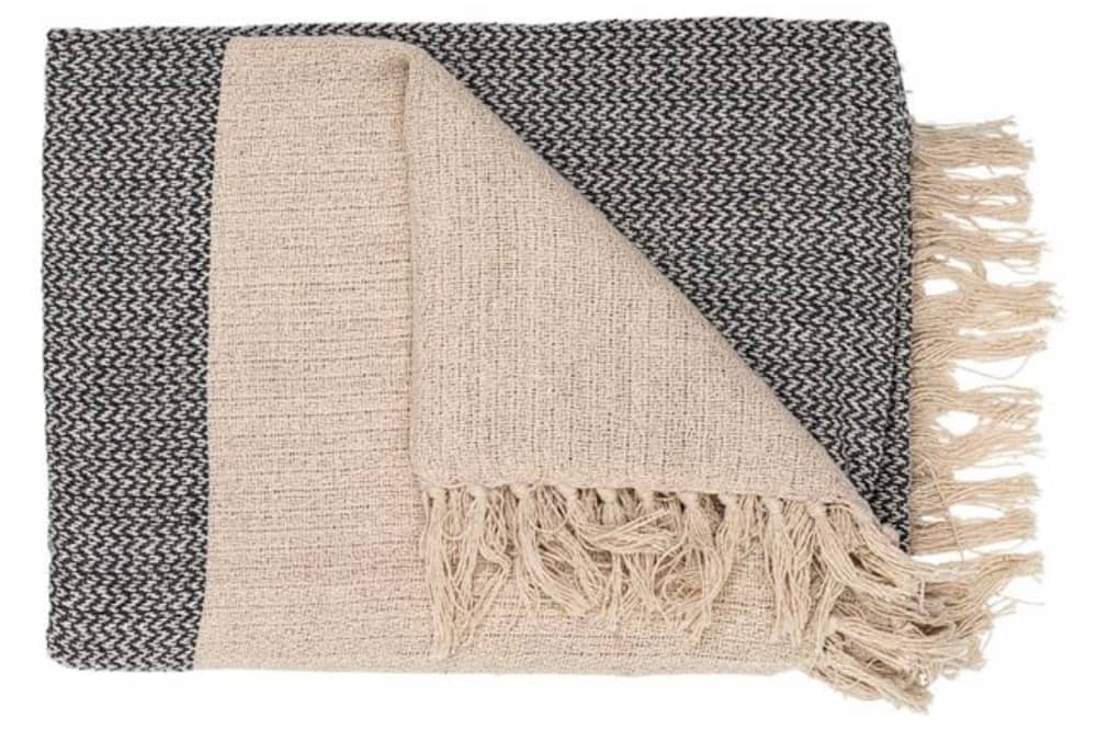 recycled cotton knit blanket
