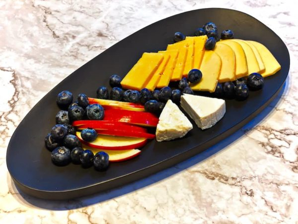 Black Wooden Serving Board Cheese Plate