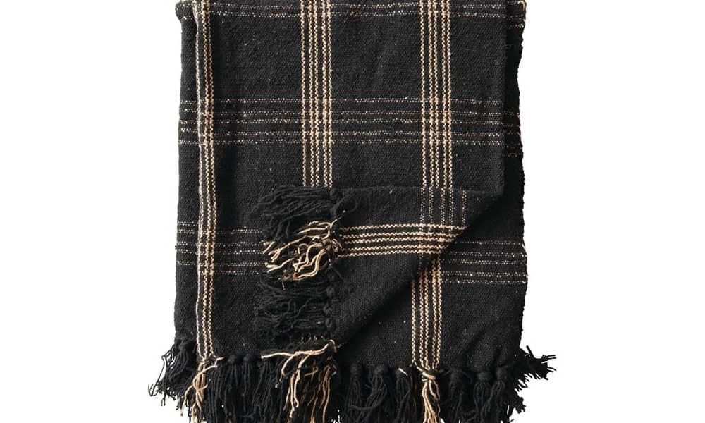 plaid cotton blanket